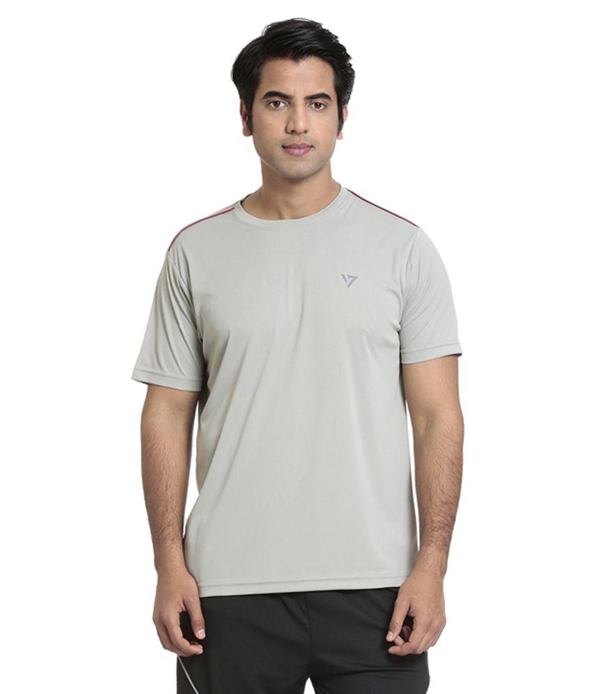 Seven Grey Polyester T-Shirt