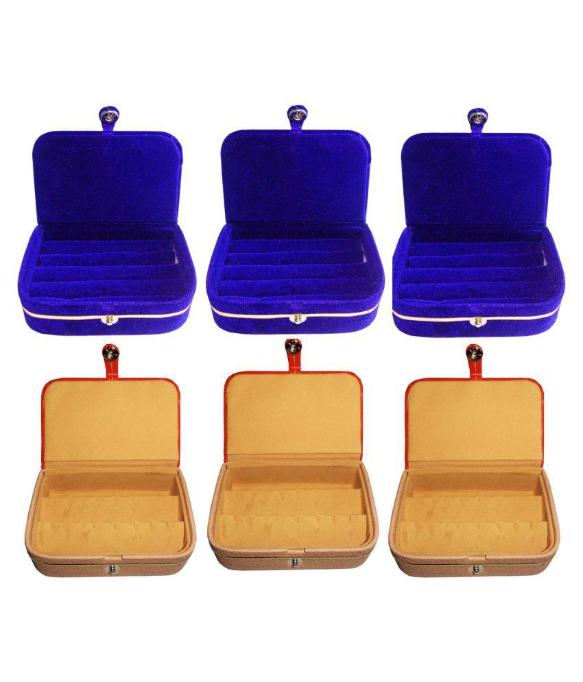Abhinidi Multicolour Wooden Ring Box - Set of 6