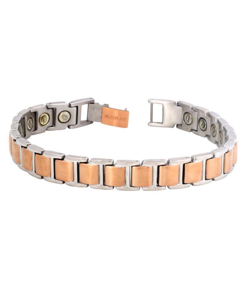 The Jewelbox Golden Copper Bracelet for Men