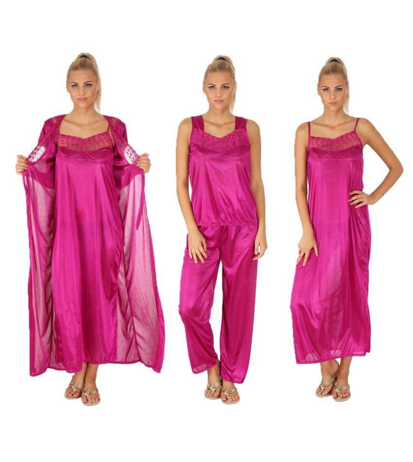 Unico Wear Pink Satin Nightsuit Sets
