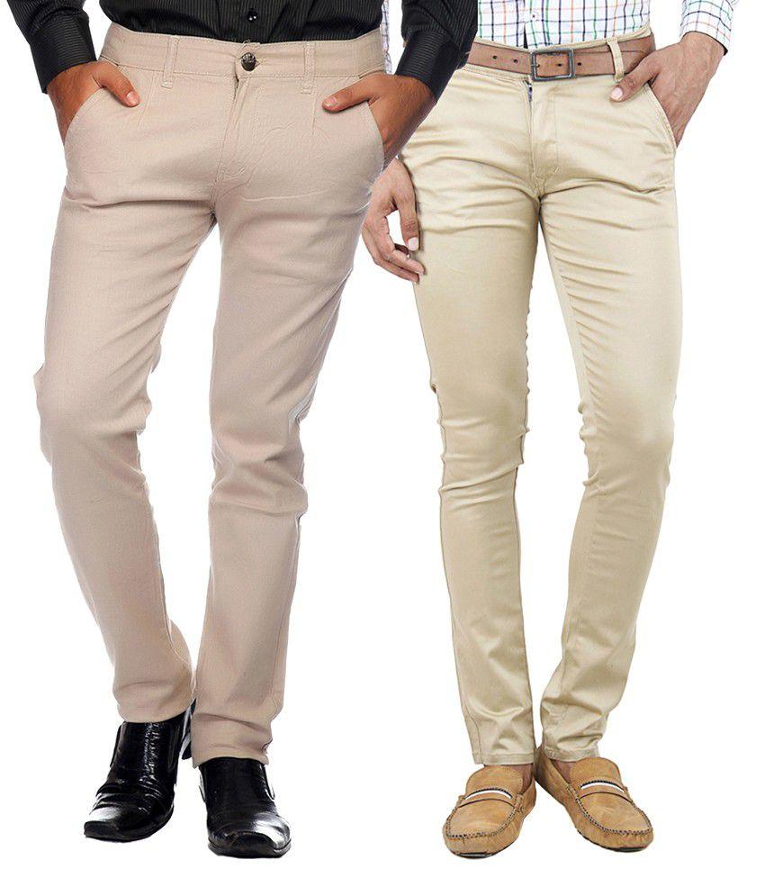 Ansh Fashion Wear Beige Regular Flat