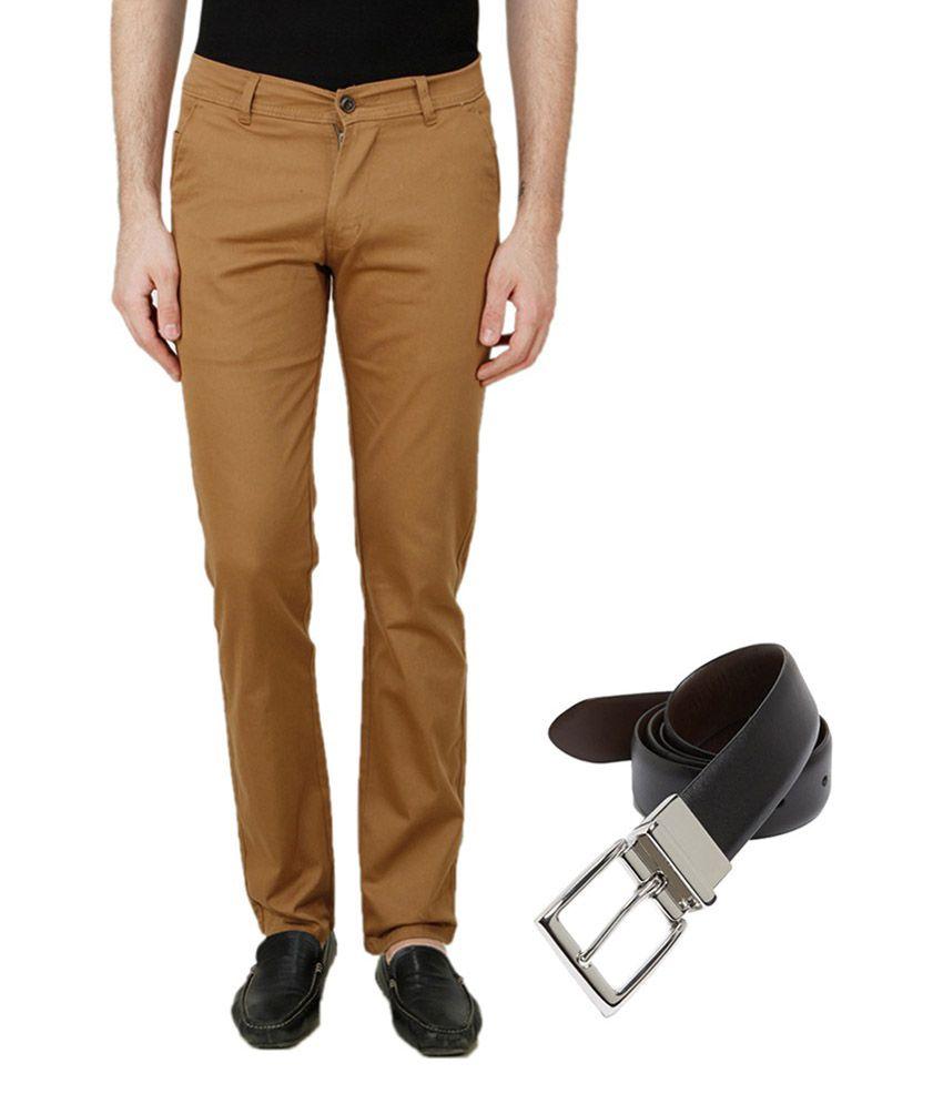 Ansh Fashion Wear Brown Regular Flat