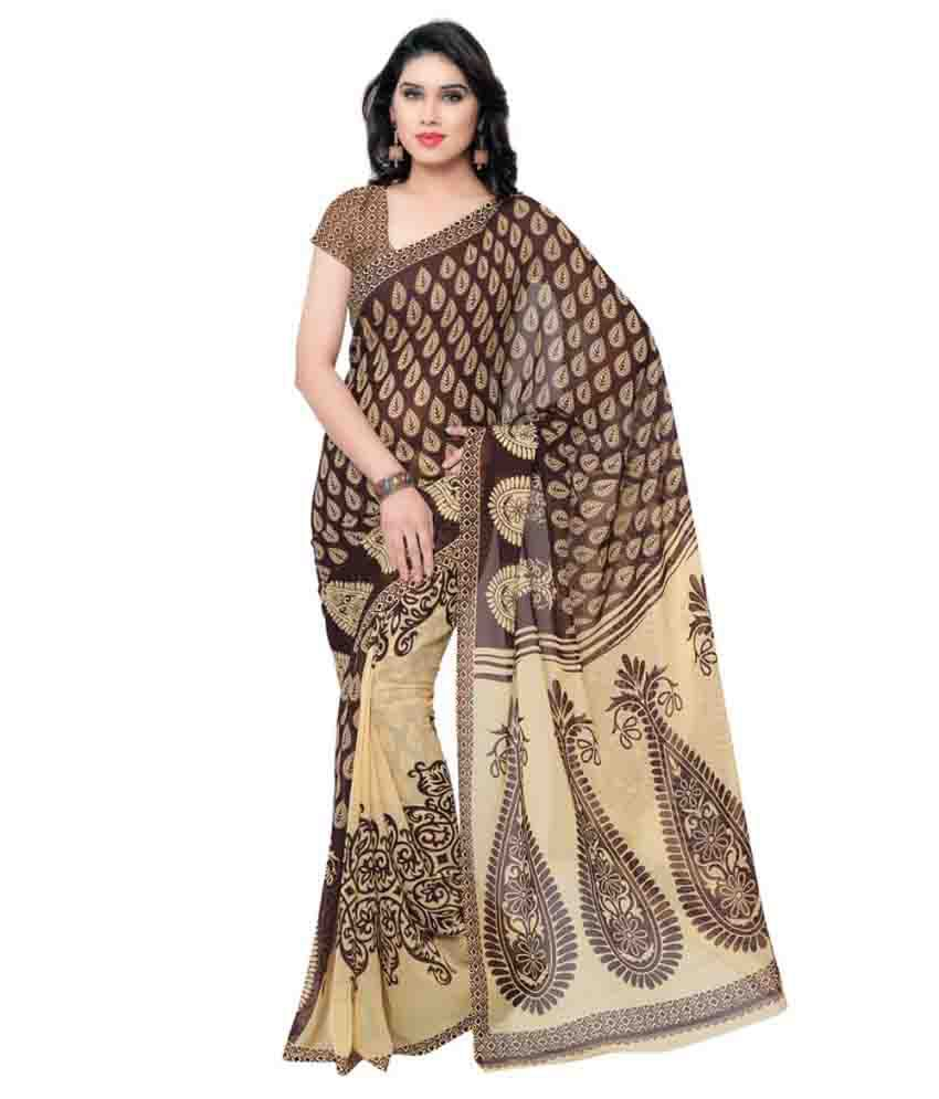 Bikaw Multicoloured Georgette Saree