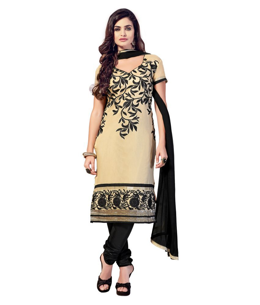 e9f29381b0f Blissta Beige Chanderi Dress Material available at SnapDeal for Rs.889