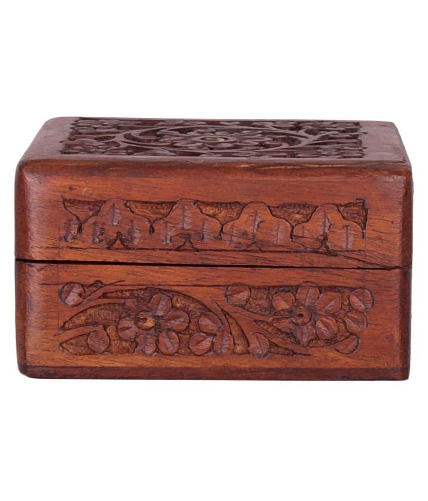 Finger's Brown Wooden Jewellery Box
