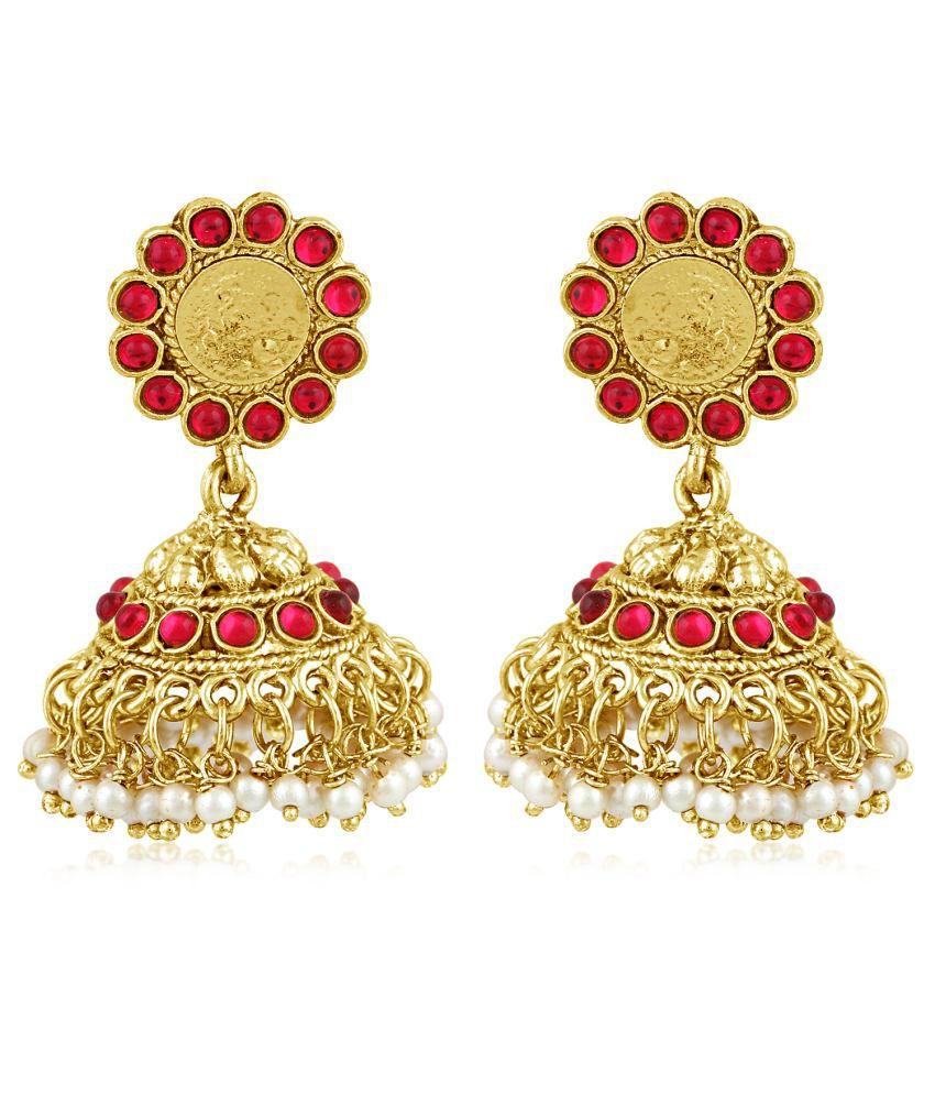 Inaya Golden Jhumki Earrings
