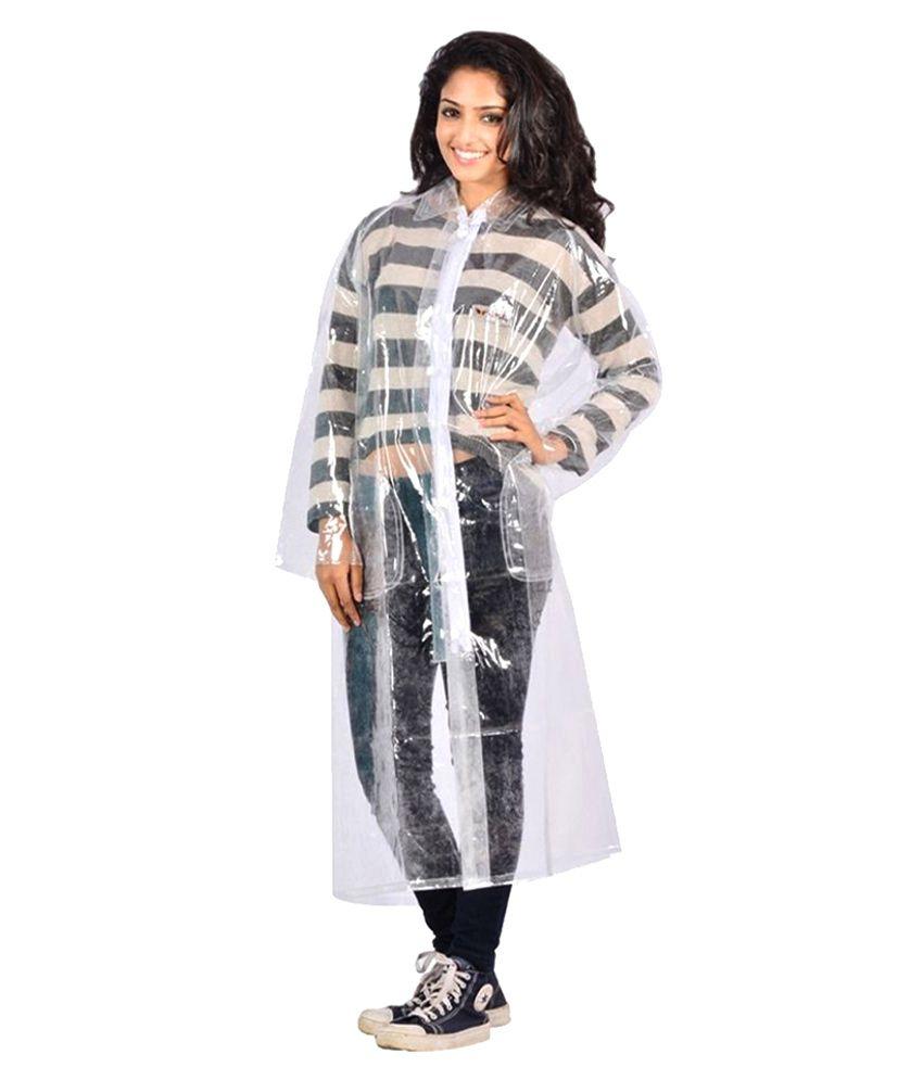 Weird Nylon Long Raincoat