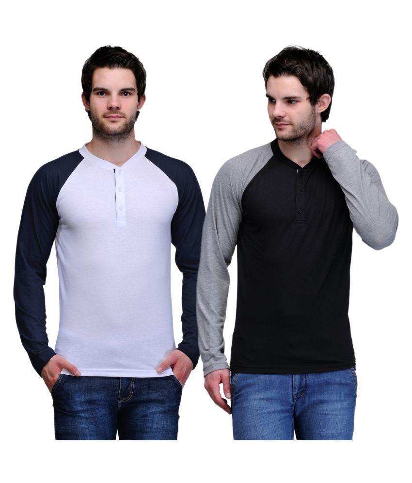 TSX Multi Henley T-Shirt Pack of 2