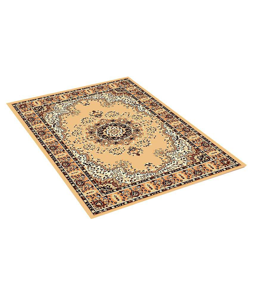 Furnishingland Beige Wool Carpet Ethnic 4x6 Ft.