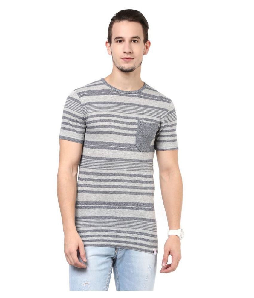 Cotton Fruitz Grey Round T-Shirt