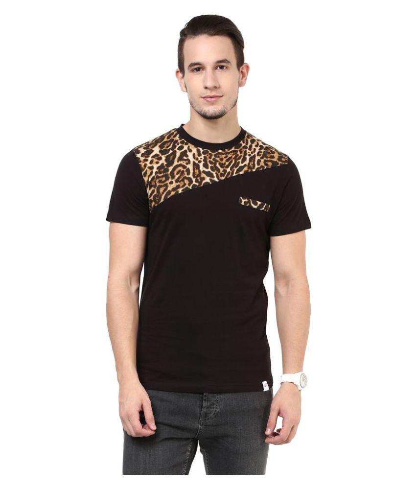 Cotton Fruitz Brown Round T-Shirt