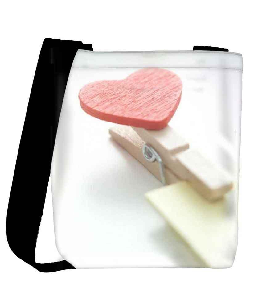 Snoogg Multi Fabric Sling Bag