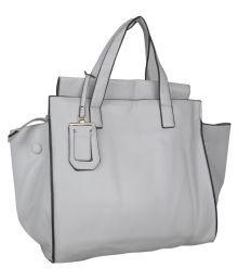 Senora White Faux Leather Shoulder Bag