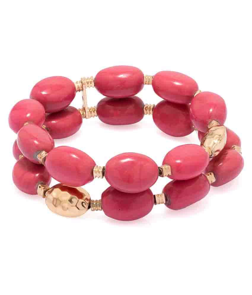 Voylla Pink Bracelet