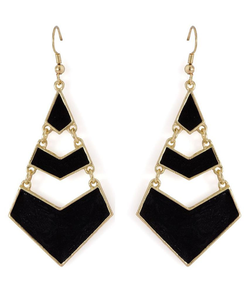Voylla Multicolour Alloy Hanging Earrings