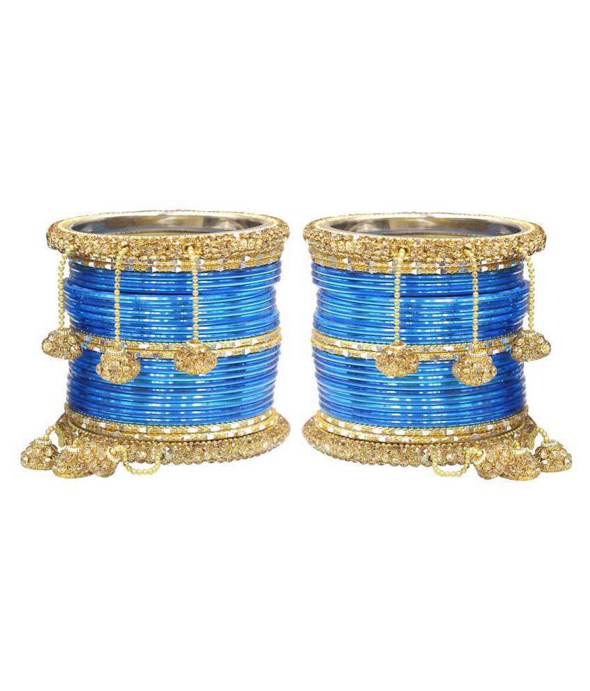 Much More Blue Bangle Set