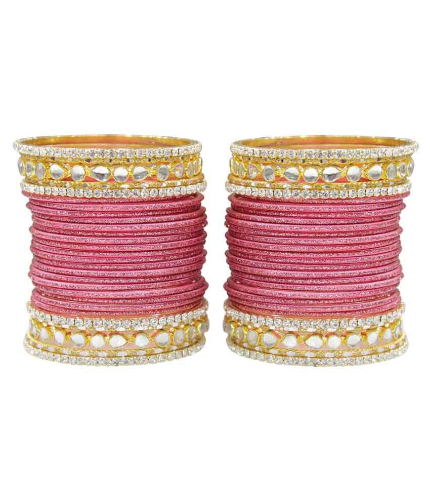 Much More Pink Bangles Set