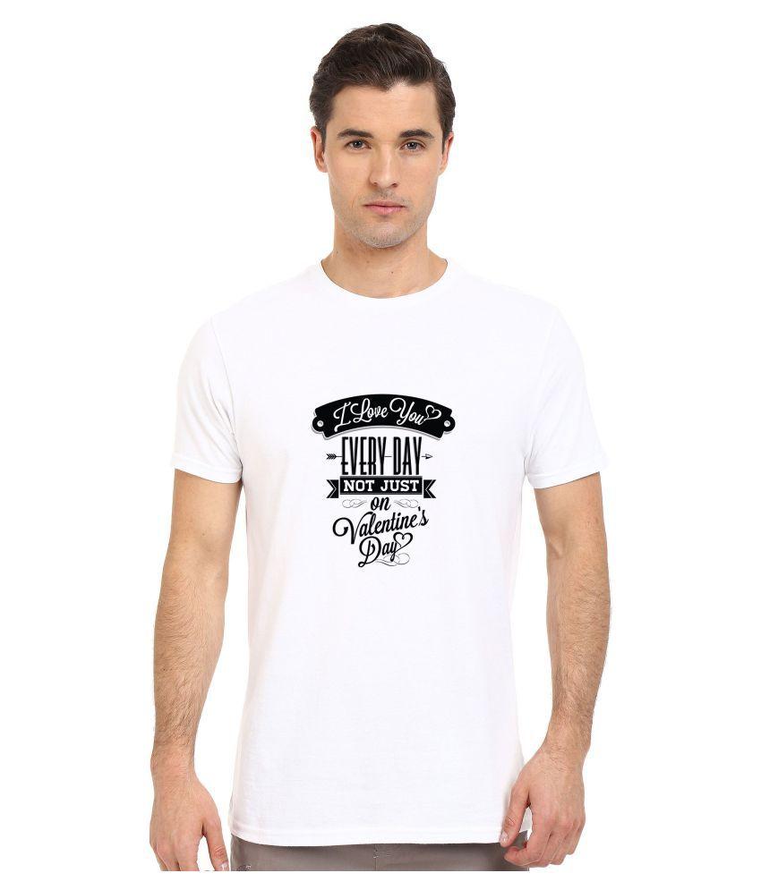 Redfool Fashions White Round T-Shirt