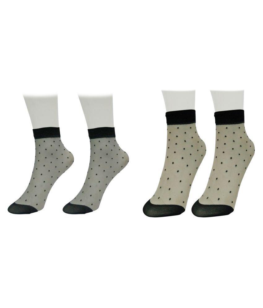 Gold Dust Multicolour Ankle Length Socks - 2 Pair Pack