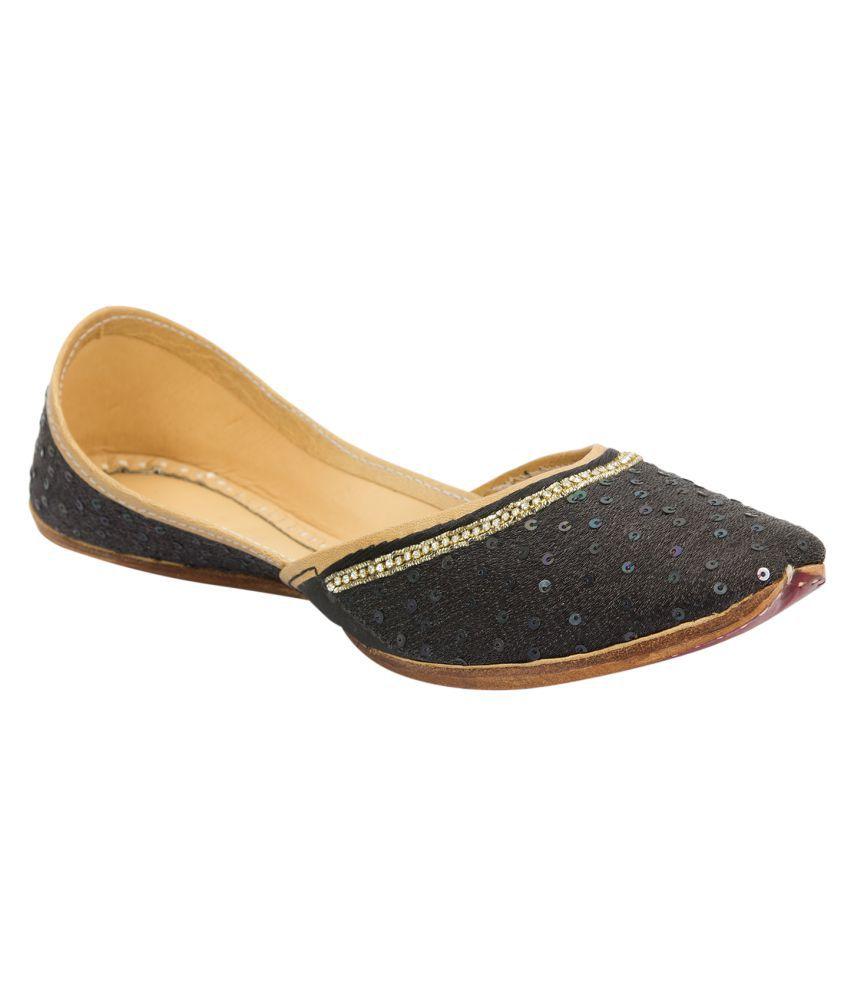 Ramayana Black Flat Ethnic Footwear