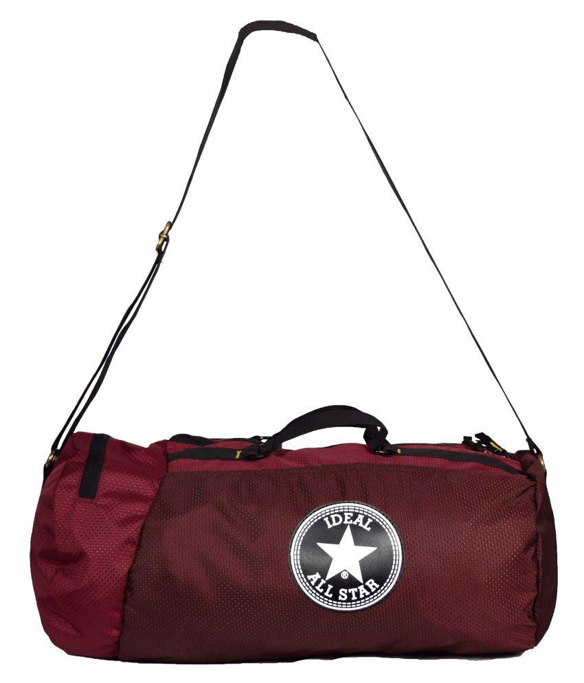 Ideal Maroon Gym Bag