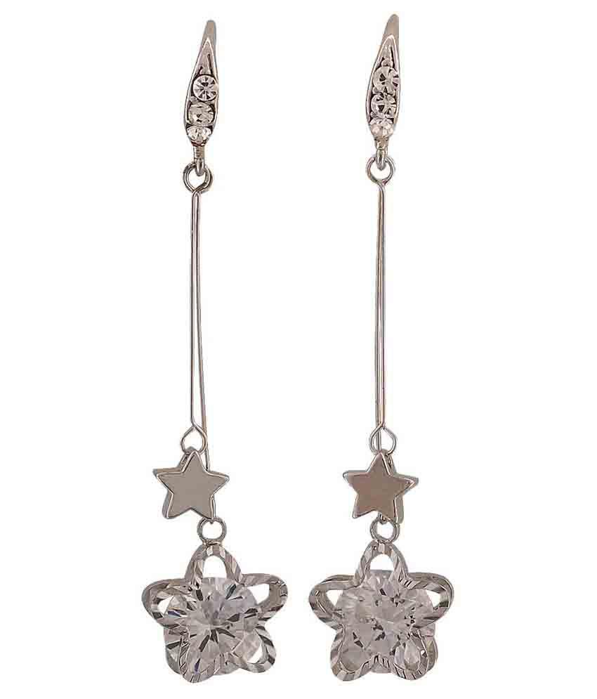Maayra Silver Hanging Earrings
