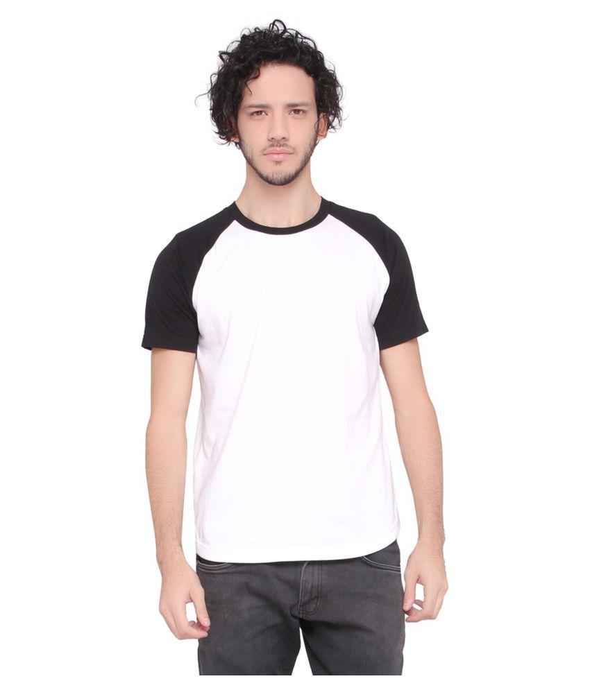 LUCfashion White Round T-Shirt