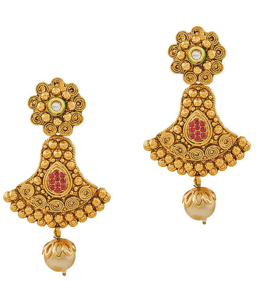 RG Fashions Golden Hanging Earrings