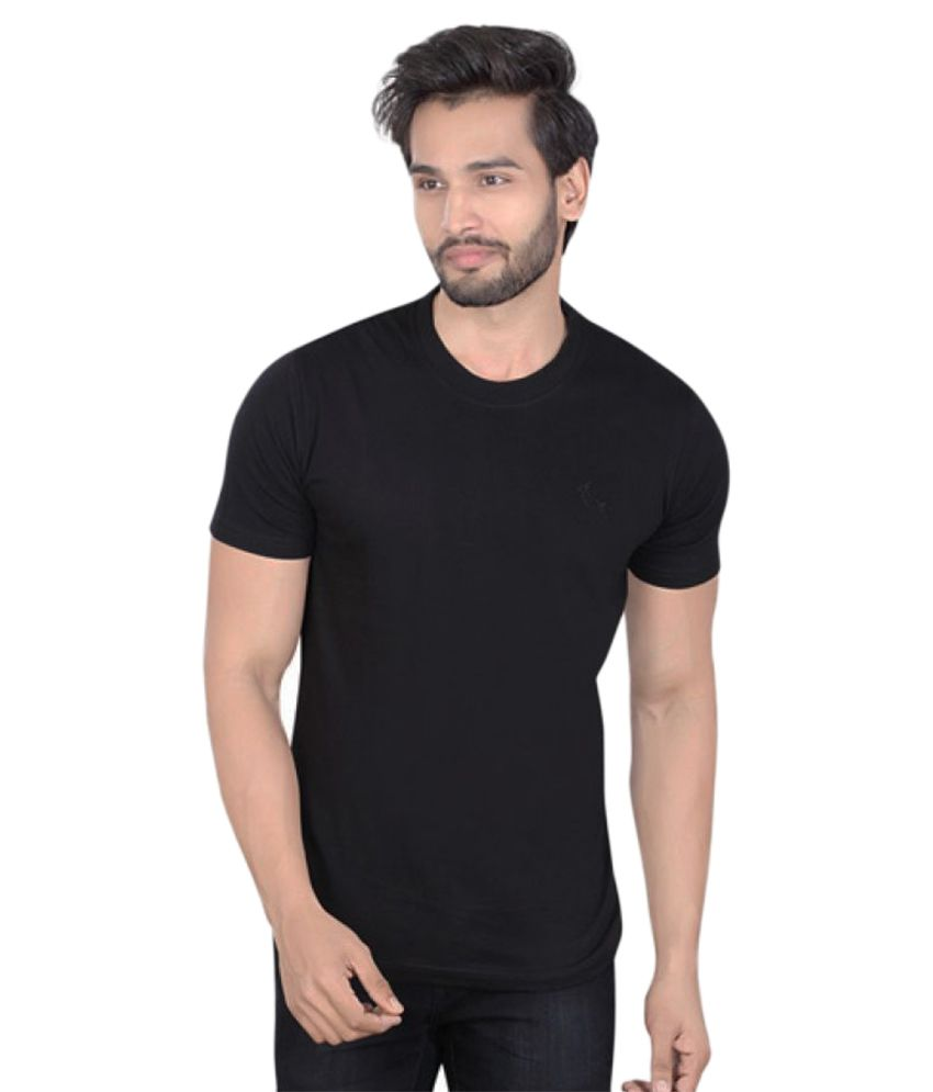 LUCfashion Black Round T-Shirt