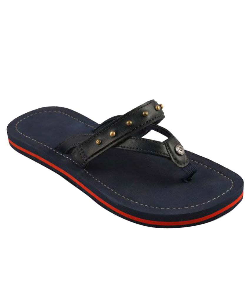 Sole Threads Navy Blue Slippers