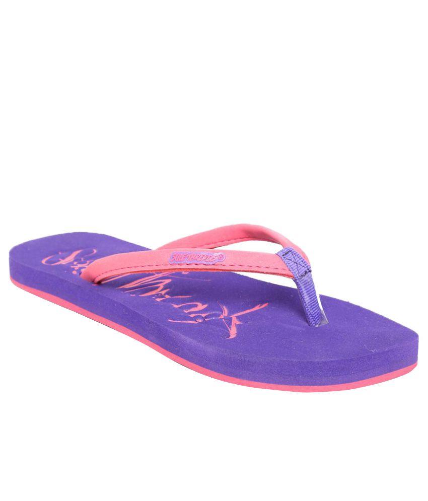 Sole Threads Pink & Purple Flip Flops