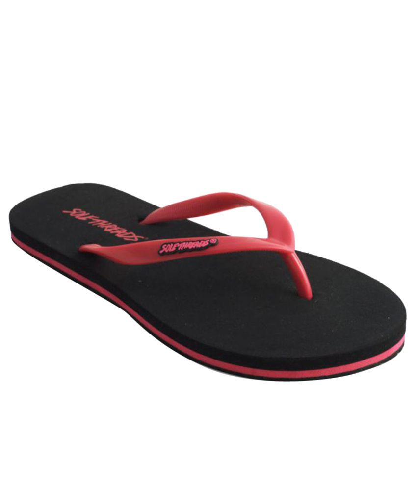 Sole Threads Red & Black Flip Flops