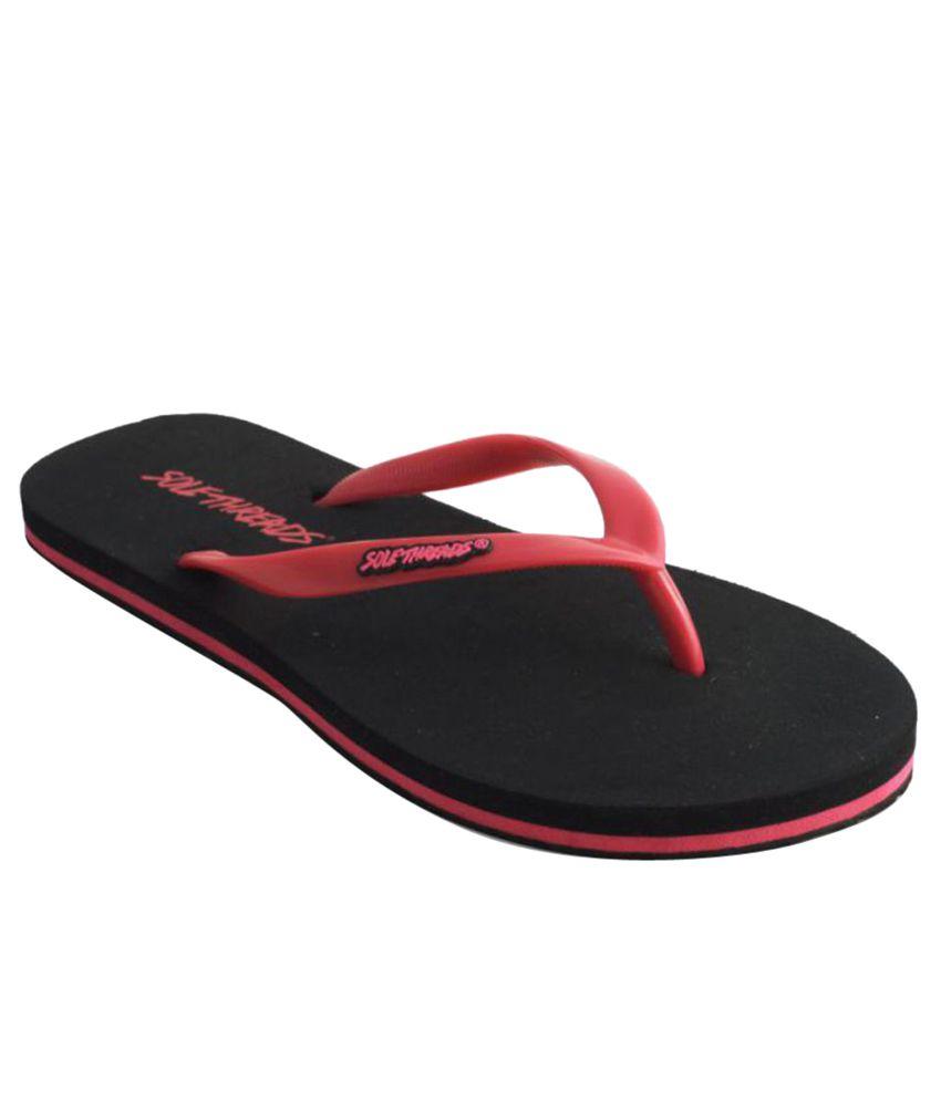 Sole Threads Red & Black Flip Flops