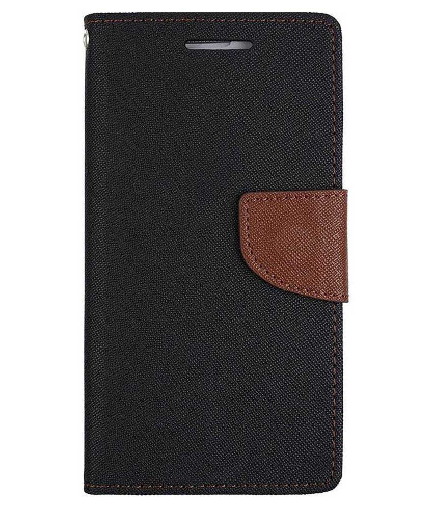 Sony Xperia C5 Flip Cover by Doyen Creations - Black