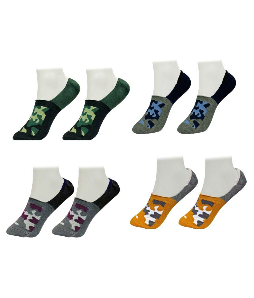 Gold Dust Multicolour Low Cut Socks - 4 Pair Pack