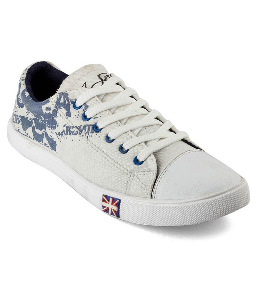 buy isole white canvas shoes on snapdeal paisawapas