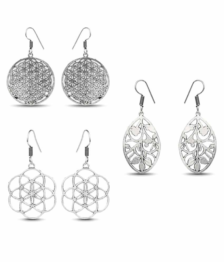Johareez Silver Earrings - Set of 3