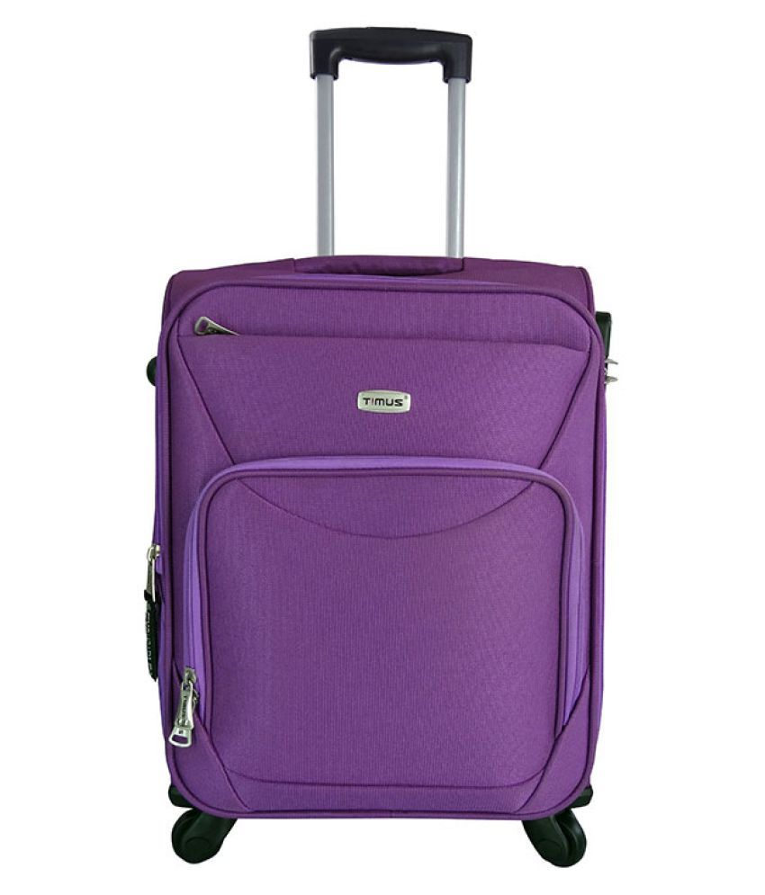 TIMUS UPBEAT SPINNER 55 CM WINE 4 WHEEL STROLLEY SUITCASE FOR TRAVEL (SMALL CABIN LUGGAGE)