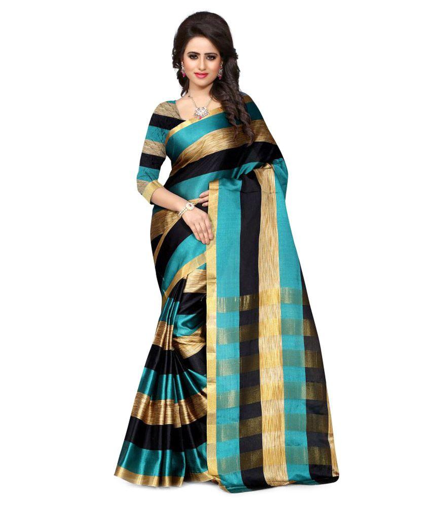 Tomorrow Culture Multicoloured Art Silk Saree