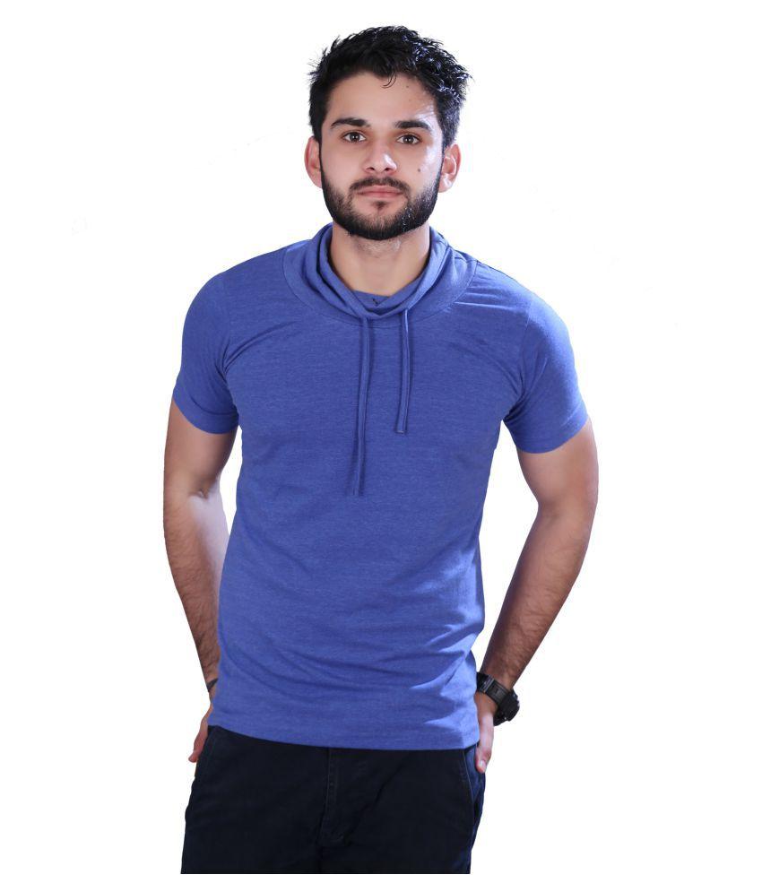 Ingens Blue Hooded T-Shirt