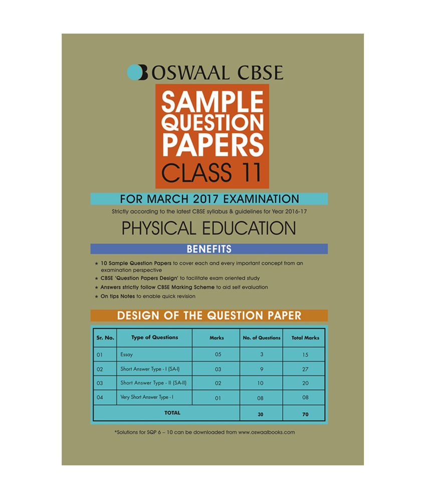 Oswaal cbse sample question papers for class 11 physical education oswaal cbse sample question papers for class 11 physical education for 2017 exams malvernweather Images