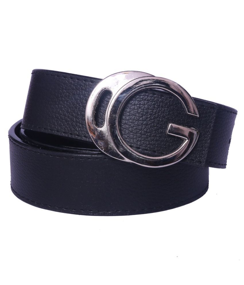 Daller Black Faux Leather Formal Belts