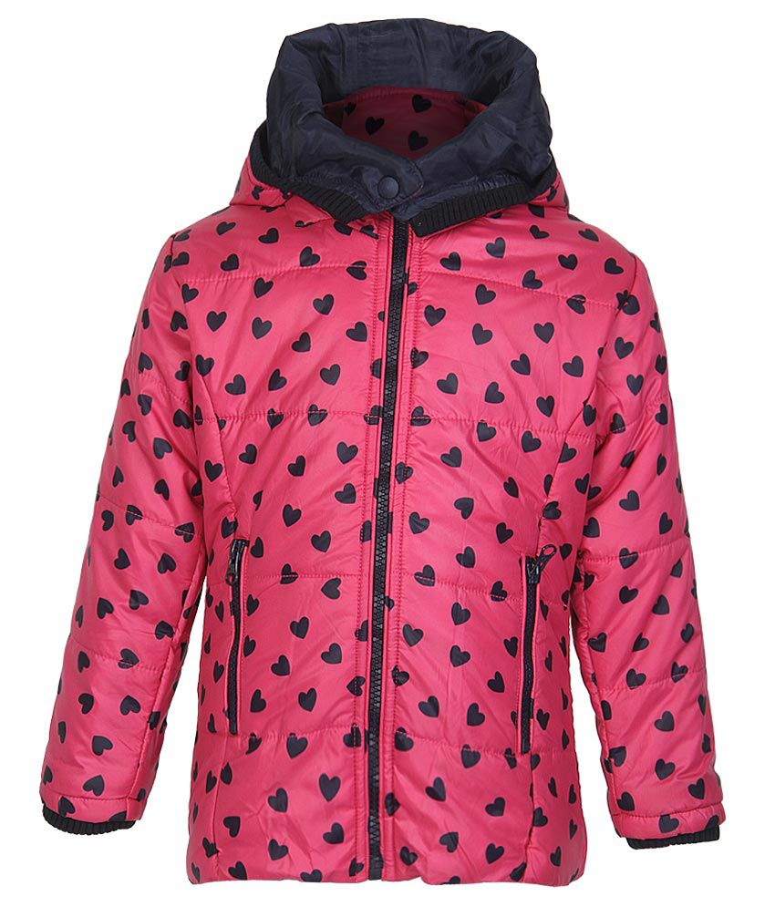 612 League Fuchsia Pink Printed Quilted Hooded Jacket