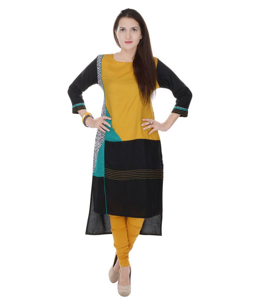 Raaz Multicoloured Rayon Straight Digital Printed Kurti