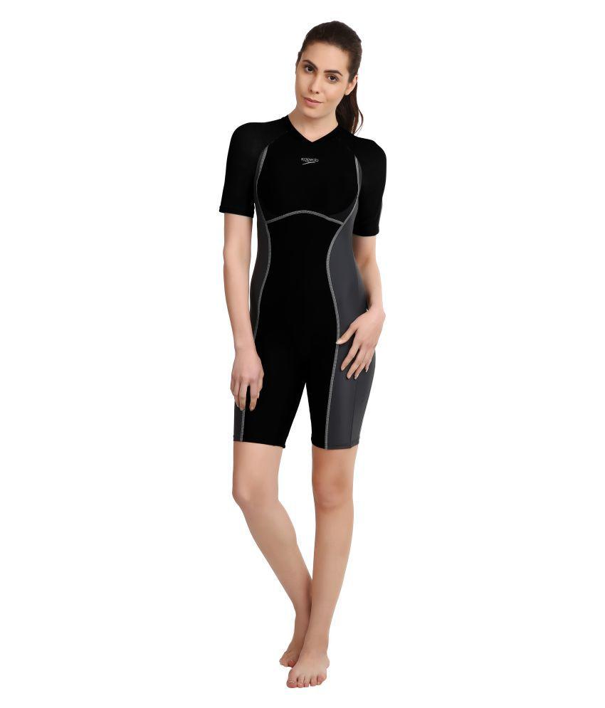 Buy Speedo Black Polyester Blend Swimwear Swimming Costume Online