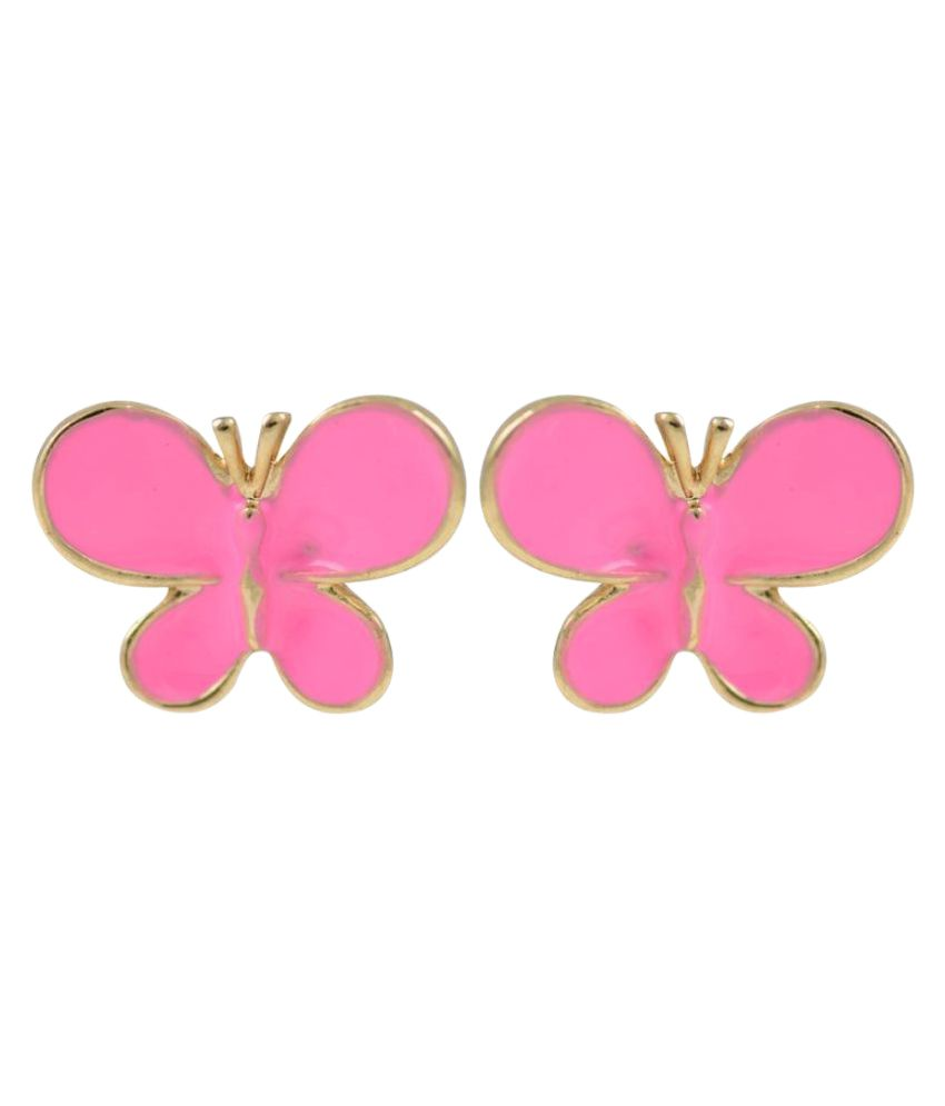 Glitters Online Pink Stud Earrings