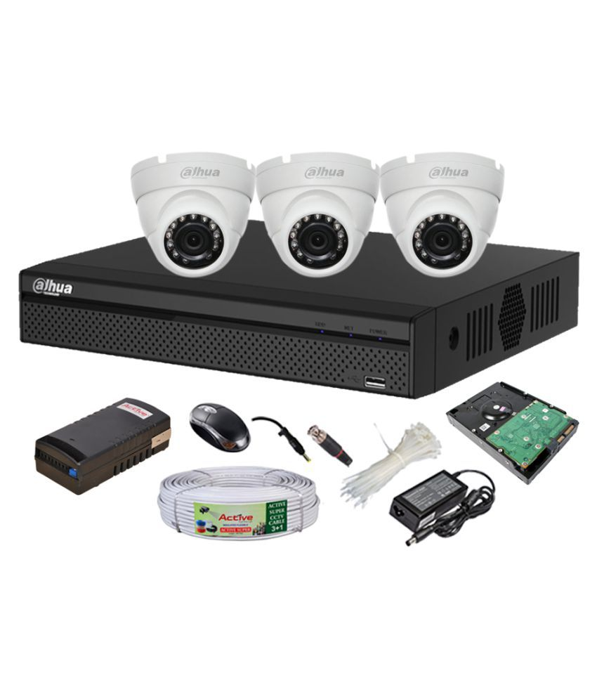 Dahua-DH-HCVR4104HS-S2-4CH-Dvr,-3(DH-HAC-HDW1100RP-0360B)-Dome-Cameras-(With-1TB-HDD,-Accessories)