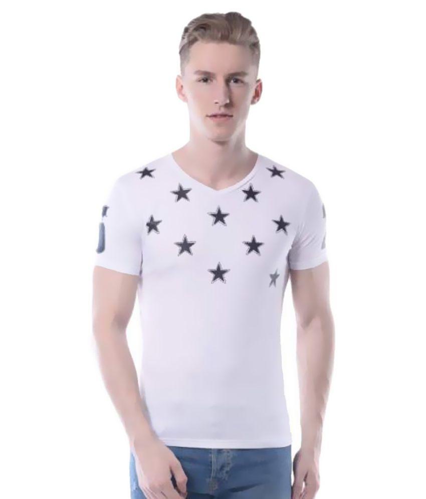 Rags White V-Neck T-Shirt