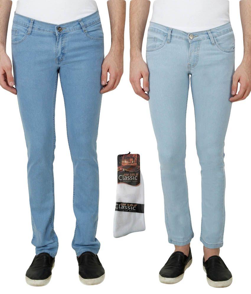 Haltung Blue Slim Solid