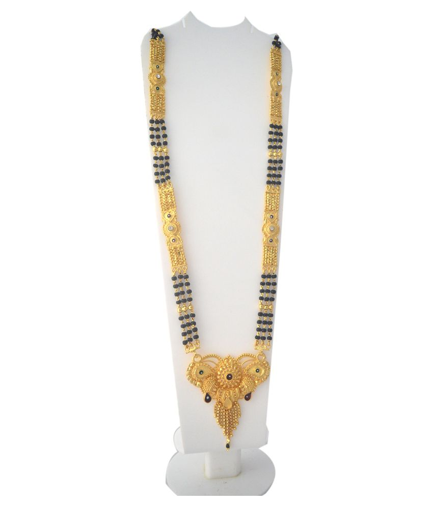 Radhekrishna Golden beautiful Mangalsutra with free  lovely earrings worth rs. 51